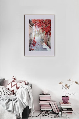 (CreativeWork) WALK WITH YOU by Doudou Huang. Watercolour Paint. Shop online at Bluethumb.