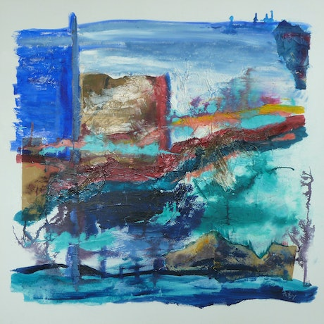 (CreativeWork) Tidal Changes by Ruby Purple. Mixed Media. Shop online at Bluethumb.