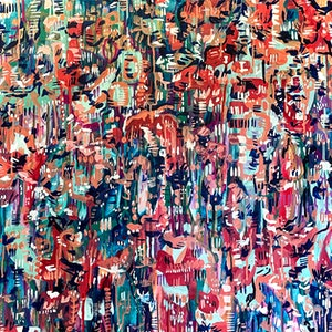 (CreativeWork) Floral Punch by Carley Bourne. #<Filter:0x00007fb4686805f0>. Shop online at Bluethumb.