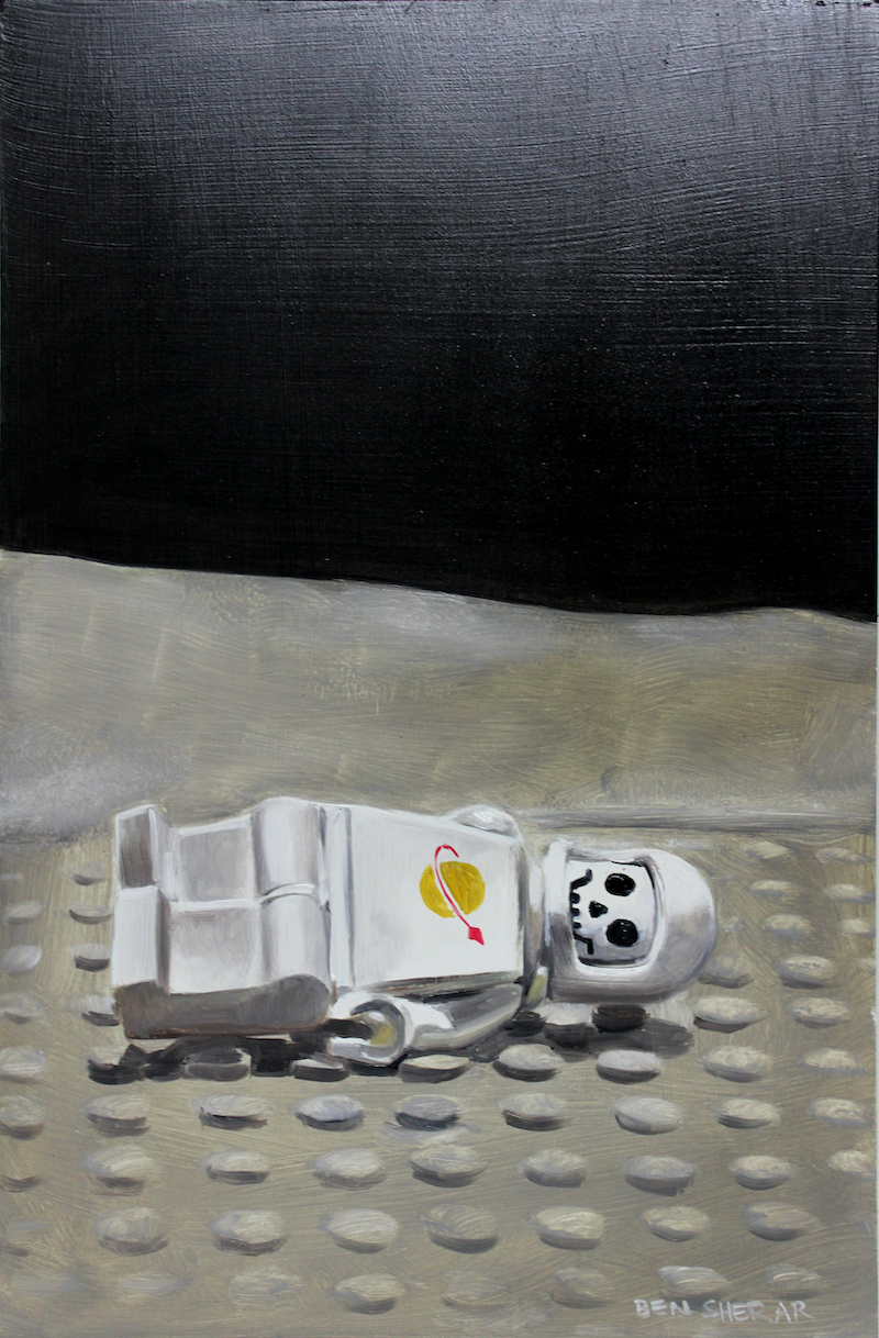 (CreativeWork) The sad demise of Spaceman One by Ben Sherar. Oil Paint. Shop online at Bluethumb.