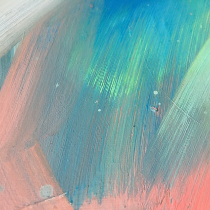 (CreativeWork) Coral Flashes by David Clare. Oil Paint. Shop online at Bluethumb.