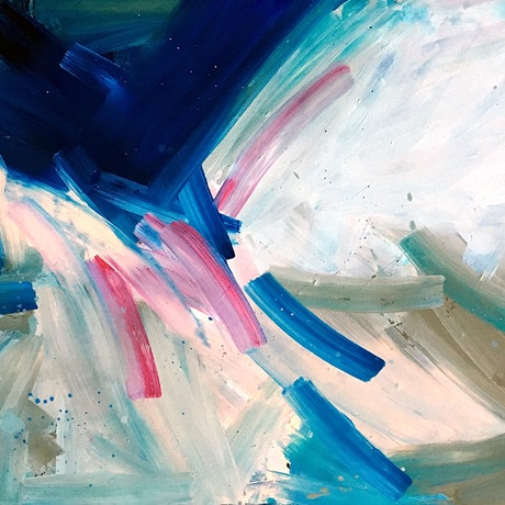 (CreativeWork) Flashes Of Pink by David Clare. Oil Paint. Shop online at Bluethumb.