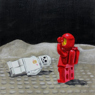 (CreativeWork) Spaceman Two discovers a tragedy by Ben Sherar. #<Filter:0x00007f02b0d8f400>. Shop online at Bluethumb.