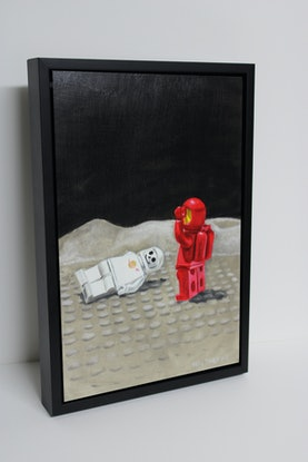 (CreativeWork) Spaceman Two to the rescue by Ben Sherar. Oil Paint. Shop online at Bluethumb.