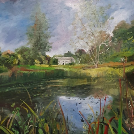 (CreativeWork) Home in the Country NEWLY FRAMED by ALAN HEATHER-XIA. Oil Paint. Shop online at Bluethumb.