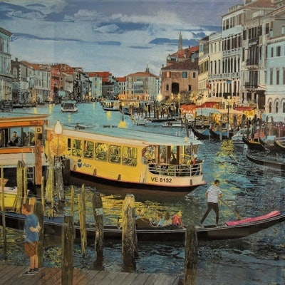 (CreativeWork) VENICE - GRAND CANAL - TWILIGHT by BRIAN CARTER. #<Filter:0x000055c6e3a370c8>. Shop online at Bluethumb.