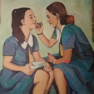 (CreativeWork) Teenagers ( Woman To Be ) by Margit Major. Acrylic Paint. Shop online at Bluethumb.