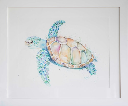 (CreativeWork) Catch You On The Flip Side by Stephanie Elizabeth. Watercolour Paint. Shop online at Bluethumb.
