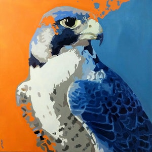 (CreativeWork) Peregrine Pop  by Karen Bloomfield. #<Filter:0x000055cd7a9df808>. Shop online at Bluethumb.