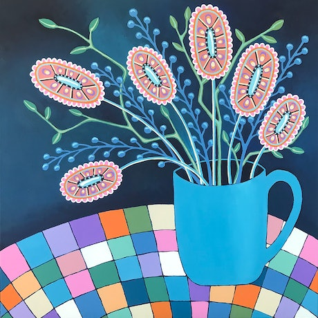 (CreativeWork) Mug Of Joy by Lisa Frances Judd. Acrylic Paint. Shop online at Bluethumb.