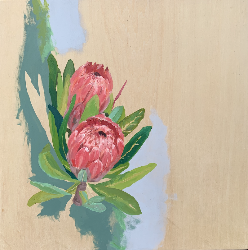 (CreativeWork) Proteas  by Lydie Paton. Mixed Media. Shop online at Bluethumb.
