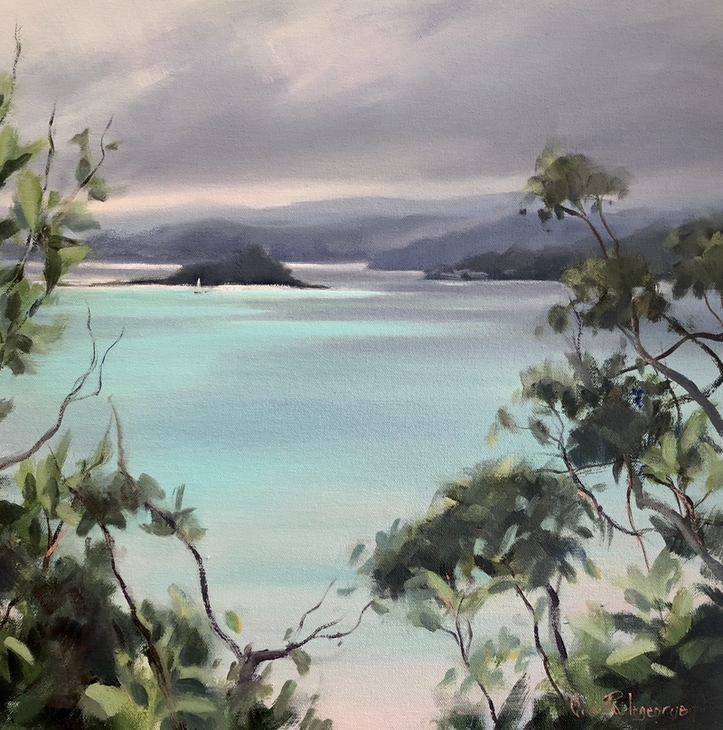 (CreativeWork) Turquoise Glow by Vivi Palegeorge. Oil Paint. Shop online at Bluethumb.