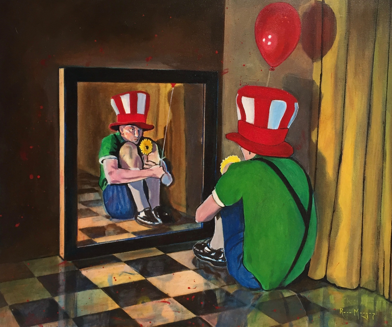 (CreativeWork) Reflection by Ross Morgan. Acrylic Paint. Shop online at Bluethumb.