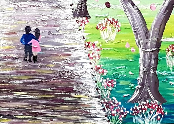 (CreativeWork) Take Me Home  by Wendy Hocking. Acrylic Paint. Shop online at Bluethumb.