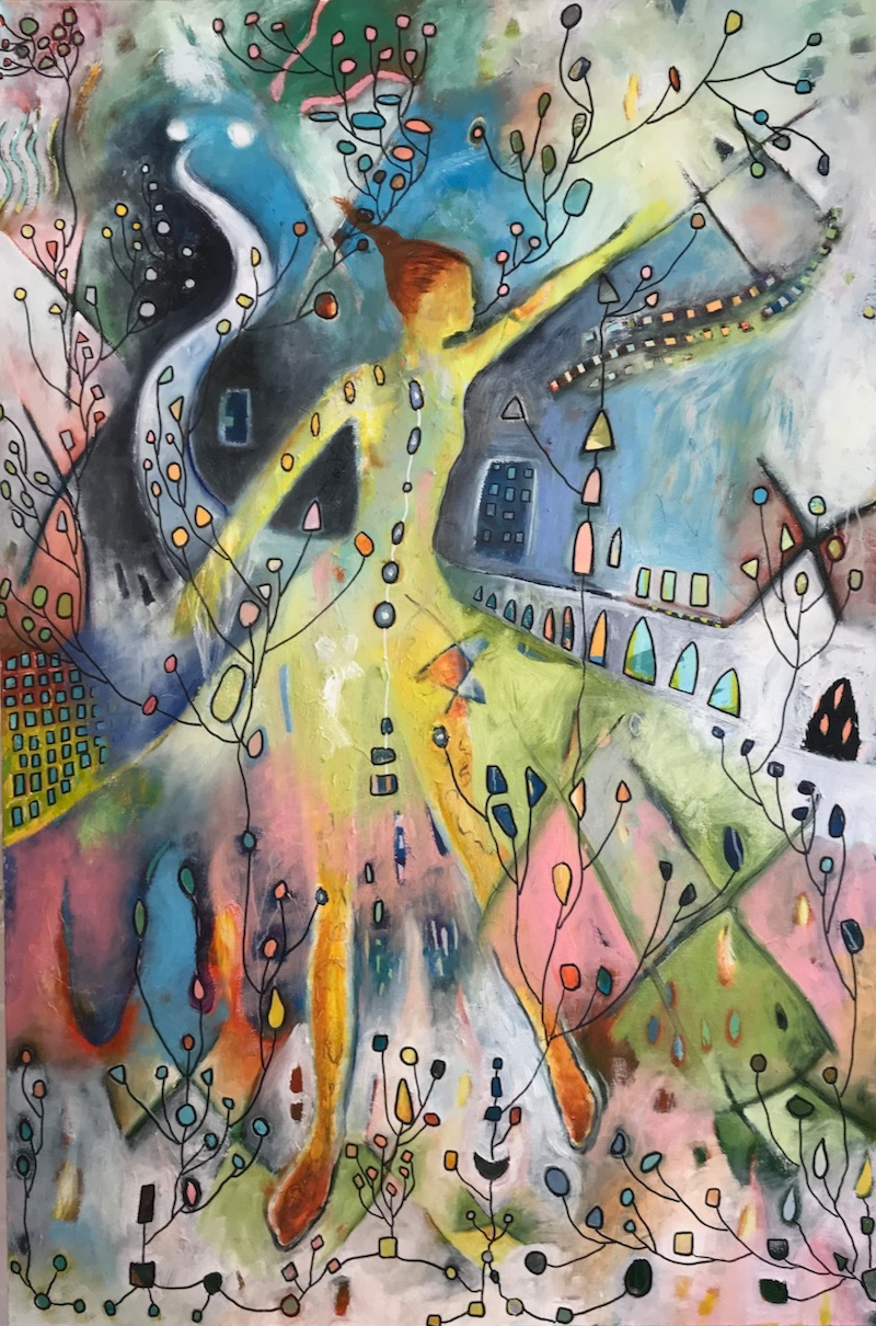 (CreativeWork) Time traveller  by Tania Weekes. Oil Paint. Shop online at Bluethumb.