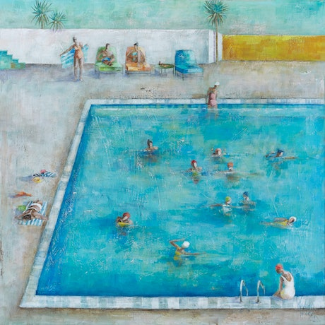 (CreativeWork) 'Poolside' Ed. 4 of 100 by Wendy Wooden. Print. Shop online at Bluethumb.