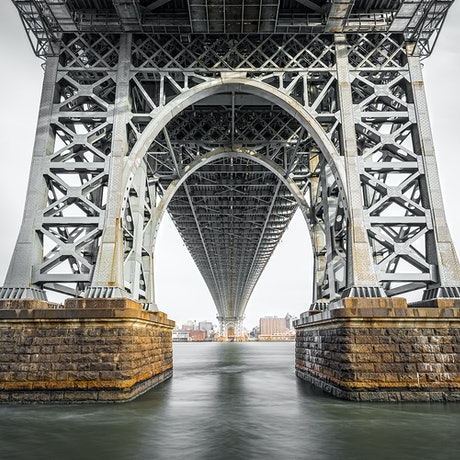 (CreativeWork) East River Grandeur Ed. 10 of 200 by Nick Psomiadis. Photograph. Shop online at Bluethumb.
