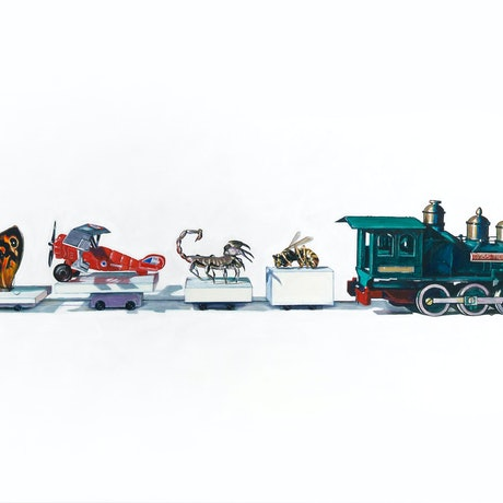 (CreativeWork) 'Freight Train' Limited Edition Fine Art Print  Ed. 2 of 20 by Ross Morgan. Print. Shop online at Bluethumb.