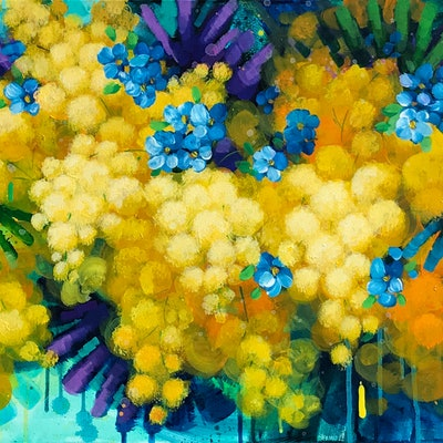 (CreativeWork) Joy Of Summer by Lily Nova. Acrylic Paint. Shop online at Bluethumb.