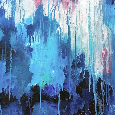 (CreativeWork) Dripping Wet by David Clare. Oil Paint. Shop online at Bluethumb.