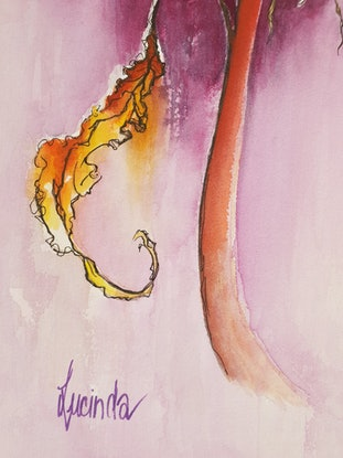 (CreativeWork) Sleeping by Lucinda Leveille. Watercolour Paint. Shop online at Bluethumb.