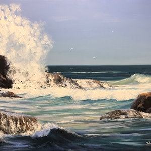 (CreativeWork) The Power Of Nature by John Rice. Oil Paint. Shop online at Bluethumb.