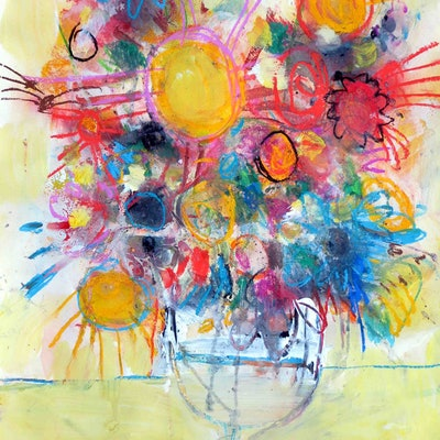 (CreativeWork) Bouquet 2 - Special price  by John Graham. Mixed Media. Shop online at Bluethumb.