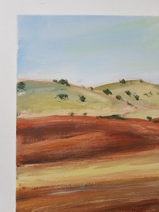 (CreativeWork) VIEWS FROM A FAST TRAIN 2 by Suzy Strout. Acrylic Paint. Shop online at Bluethumb.