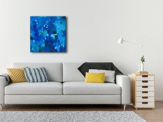 (CreativeWork) Cool water by Susan Lhamo. Acrylic Paint. Shop online at Bluethumb.