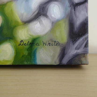 (CreativeWork) Swamp Teatree by Delma White. Oil Paint. Shop online at Bluethumb.