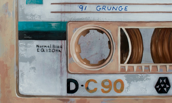 (CreativeWork) Mixed tape vol 3 - Retro series.   - 91' GRUNGE by Damien Venditti. Oil Paint. Shop online at Bluethumb.