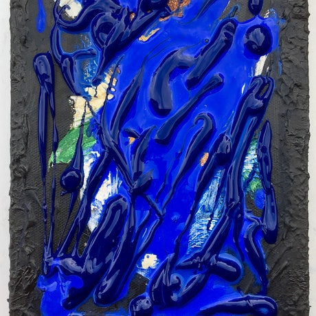 (CreativeWork) Klein Blue 1. by Eva Horvath. Mixed Media. Shop online at Bluethumb.