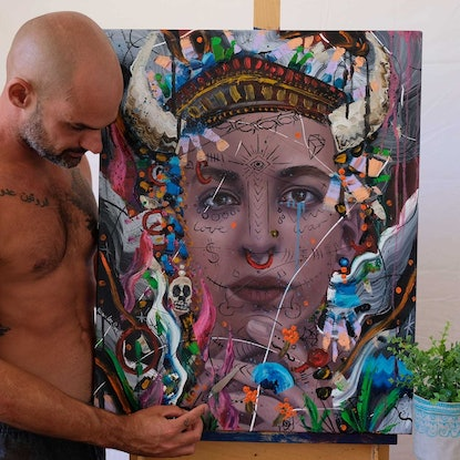 (CreativeWork) Goddess by Aidan Smith. Oil Paint. Shop online at Bluethumb.