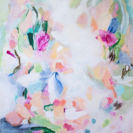 (CreativeWork) New Beginnings by Alison Ashley. Acrylic Paint. Shop online at Bluethumb.
