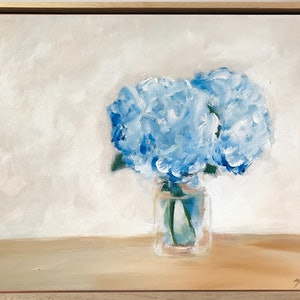 (CreativeWork) Hydrangeas On The Table by Marnie McKnight. #<Filter:0x00007f5995883b28>. Shop online at Bluethumb.