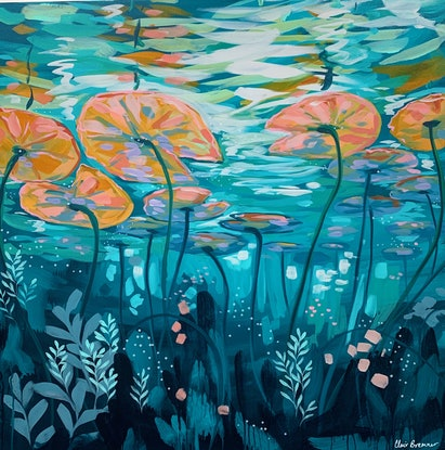(CreativeWork) Moments Away by Clair Bremner. Acrylic Paint. Shop online at Bluethumb.