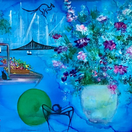 (CreativeWork) A Still Life by Louise Croese. Mixed Media. Shop online at Bluethumb.