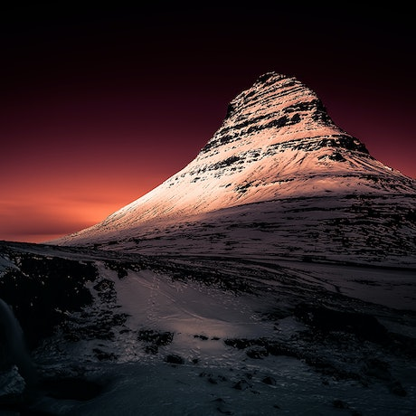(CreativeWork) Kirkjufell Dusk Ed. 5 of 200 by Nick Psomiadis. Photograph. Shop online at Bluethumb.