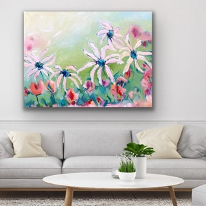 (CreativeWork) Gelato Daisy - Flowers by Jen Shewring. #<Filter:0x00007f1f80a04190>. Shop online at Bluethumb.