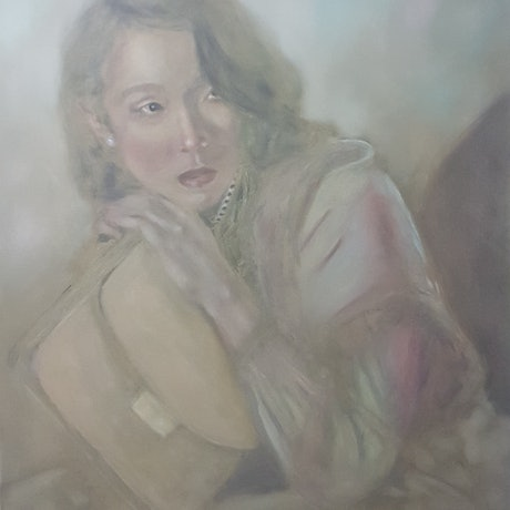 (CreativeWork) Waiting by Michael Miller. Oil Paint. Shop online at Bluethumb.