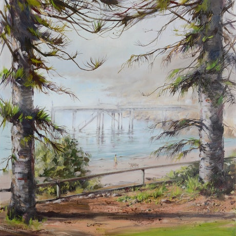 (CreativeWork) Morning mist - Horseshoe Bay, Port Elliot by Paul Whitehead. Oil Paint. Shop online at Bluethumb.