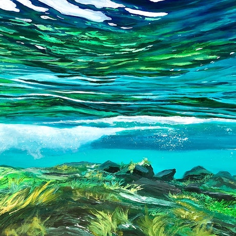 (CreativeWork) UNDERWATER by Vanessa Mae. Acrylic Paint. Shop online at Bluethumb.