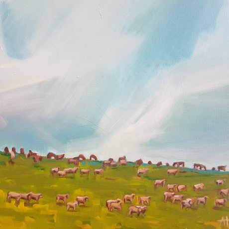 (CreativeWork) On the move by Alice Tilley. Oil Paint. Shop online at Bluethumb.