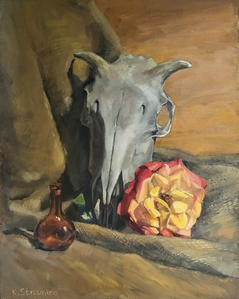 (CreativeWork) Goat Poison by Katia Strounina. Oil Paint. Shop online at Bluethumb.