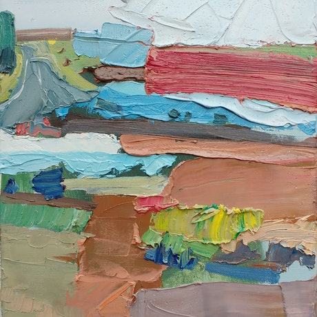 (CreativeWork) Patchwork Study by Lise Temple. Oil Paint. Shop online at Bluethumb.