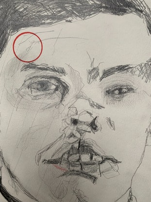 (CreativeWork) broken face by Jodie Zutt. Drawings. Shop online at Bluethumb.
