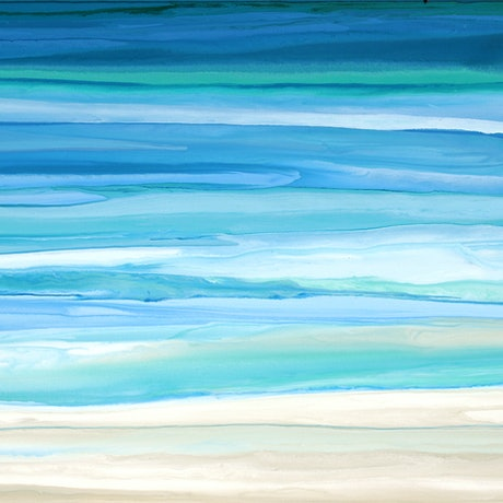 (CreativeWork) Mayasea - very large blue green abstract seascape by Stephanie Laine Pickering. Acrylic Paint. Shop online at Bluethumb.