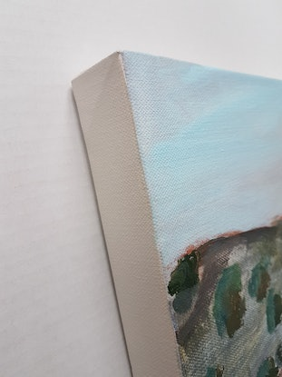 (CreativeWork) VIEWS FROM A FAST TRAIN 3 by Suzy Strout. Acrylic Paint. Shop online at Bluethumb.