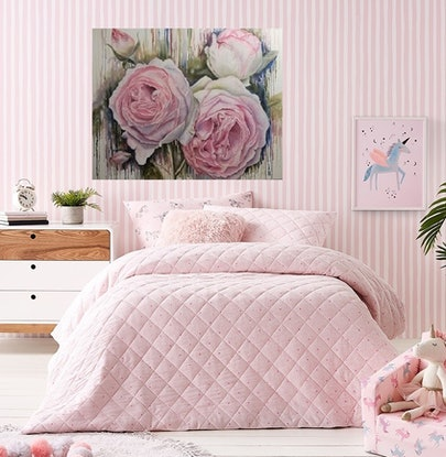 (CreativeWork) Soft Pink Roses - Shabby Chic Hamptons idea! by Susan Capan. Oil Paint. Shop online at Bluethumb.
