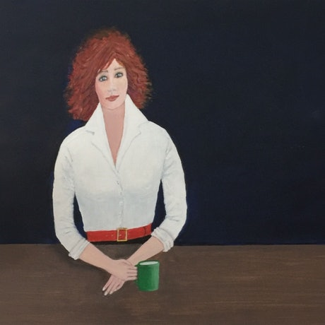 """(CreativeWork) SALE 25% OFF - """"Veronica"""" Original Contemporary Portrait of a Young Woman by Fran Caldwell by Fran Caldwell. Acrylic Paint. Shop online at Bluethumb."""